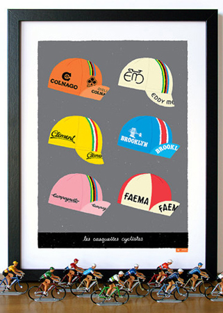 Gumo Gallery Cycling Caps Poster