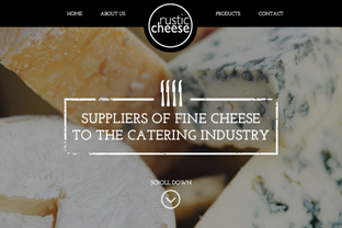 Rustic Cheese Website